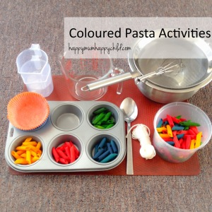 Coloured Pasta Activities