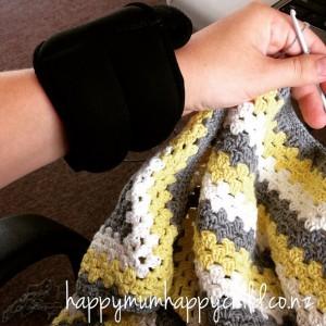 Yellow Grey White Blanket